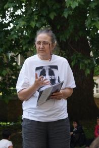 Hilda Palmer outside HoC (Helen Lynn)