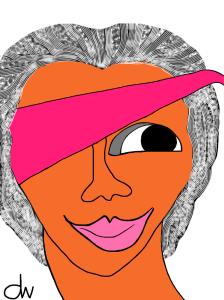 pink blindfold