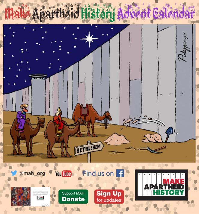 Make Apartheid History Advent Calendar goes livetoday
