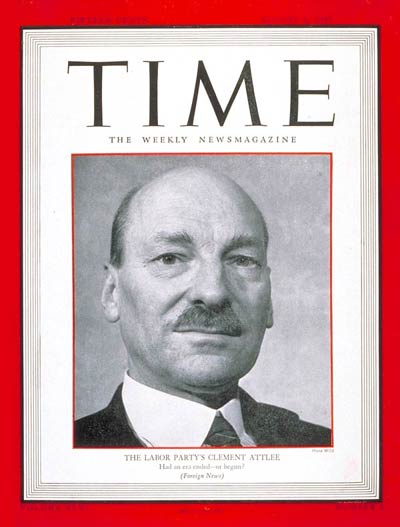 Time Person of the Year Clement Attlee