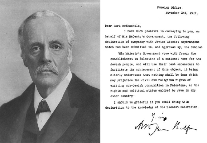 The 1917 Balfour Declaration: 'Settler Colonialism' 100 years on