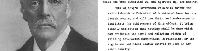 The 1917 Balfour Declaration: 'Settler Colonialism' 100 yearson